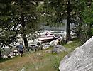 Jet Boat on the Rocks